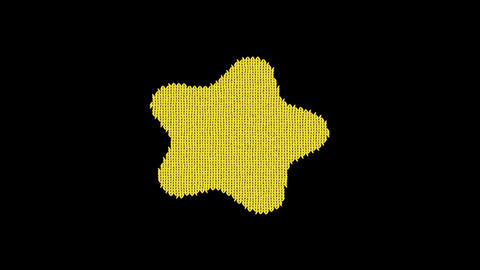 Symbol splotch is knitted from a woolen thread. Knit like a sweater Animation
