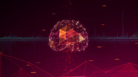 AI artificial intelligence digital network technologies 19 3 Brain 7 red 2 4k Animation