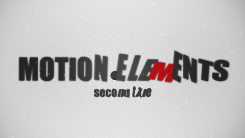 The title logo animation of the simple monotone! After Effects Template