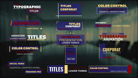 Titles Frame Motion Graphics Template