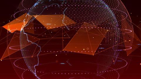AI artificial intelligence digital network technologies 19 3 BG 7 red 3 4k Animation