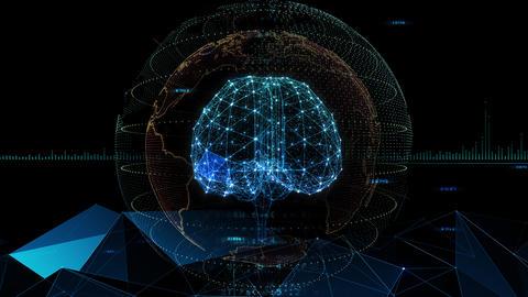 AI artificial intelligence digital network technologies 19 3 Brain 7 blue 3b 4k Animation