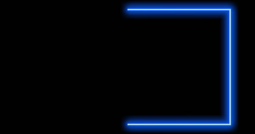 Blue green border using abstract glowing light makes frame - 4k Animation