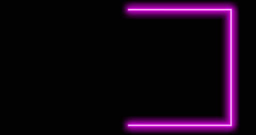 Red mauve border using abstract glowing light makes frame - 4k Animation
