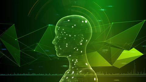 AI artificial intelligence digital network technologies 19 3 Human 7 green 2 4k Animation