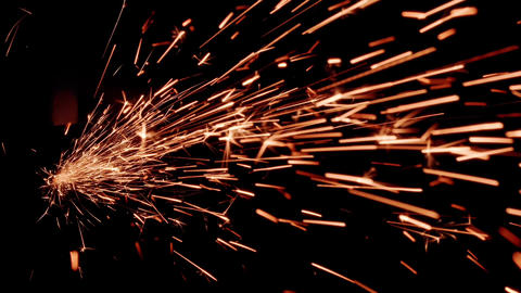 Sparkler lighted in the dark Live Action