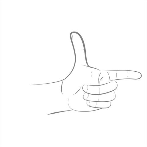 Finger 1-5 scoring clipart. Hand drawn arm on a white background Animation