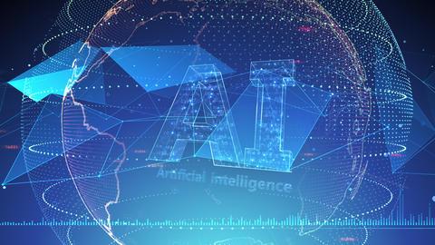 AI artificial intelligence digital network technologies 19 3 Logo 7 blue 3b 4k Animation