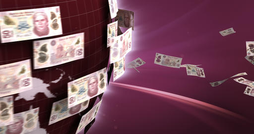 Global Business with Mexican Pesos Animation