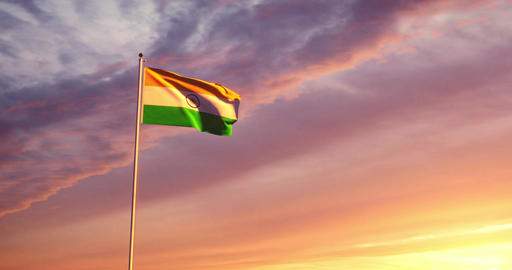 Indian flag waving depicts the national symbol of India - 4k Animation