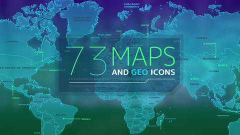 73 Maps And Geo Icons After Effects Template