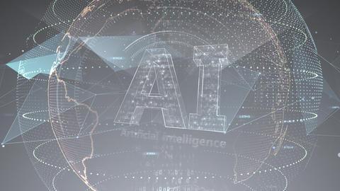 AI artificial intelligence digital network technologies 19 3 Logo 7 gray 3 4k Animation