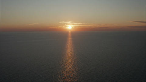 Beautiful sunrise on the Black Sea. blue sea Live Action