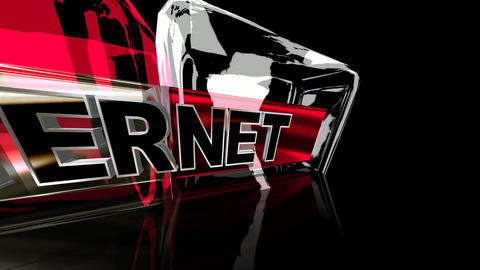 248 3d animated logo for theinternet in glass style 애니메이션