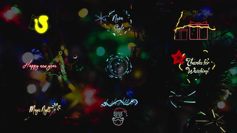 Christmas Neon Titles Apple Motion Template