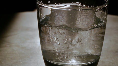 Water pouring in glass 4k Live Action