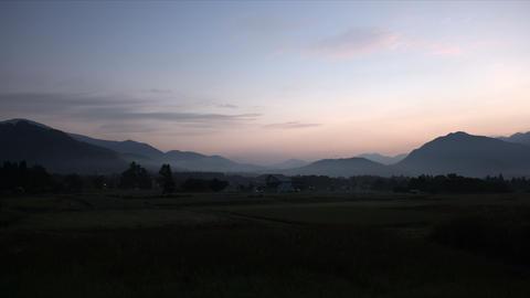 Dawn of Hakuba, flat color Footage