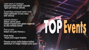Top Events After Effects Project