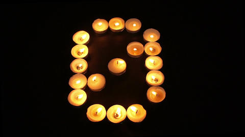 Tealight Candle Number Zero Footage
