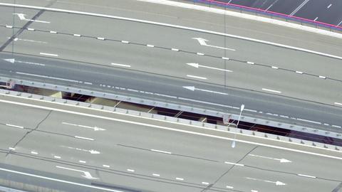 Flight Above Highway Interchange Live影片