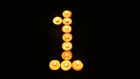 Tealight Candle Number One Footage