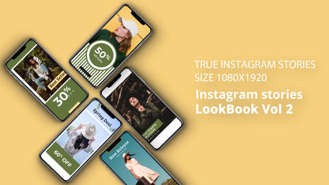 Instagram Stories LookBook Vol 2 After Effects Template