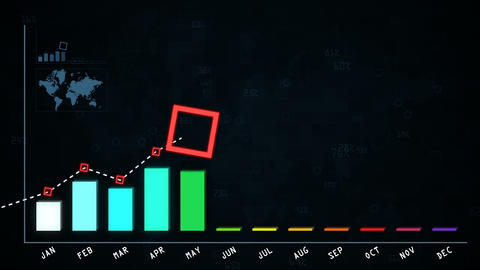 Growth chart for annual report to shareholders Animation