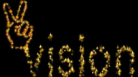 4k GLITTER V-SIGN VISION Animation