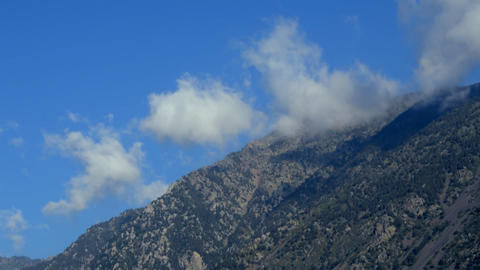 Cinematic Mountain Clouds Vortex Live Action