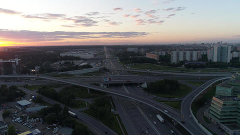 The view from the height of intersecting highways Live Action
