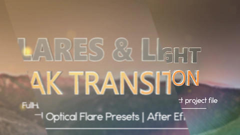 Flare and Light Leak Transitions Pack After Effects Template