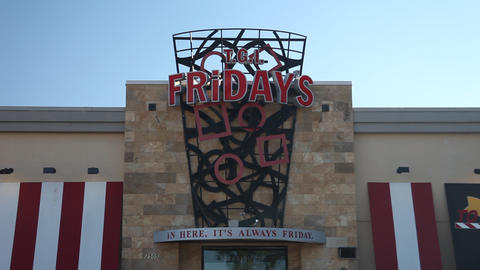 T.G.I.Fridays storefront Footage