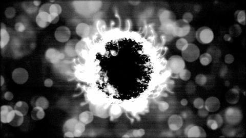 Abstract Black and White Rotating Sphere Animation - Loop Animation