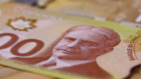 Many Canadian 100 bills, Polymer Plastic Type Footage