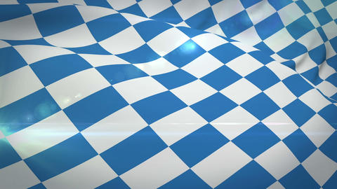 Digitally generated of oktoberfest flag Live Action