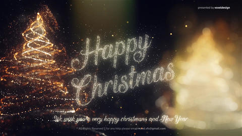 Happy New Year and Happy Christmas Opener After Effects Template
