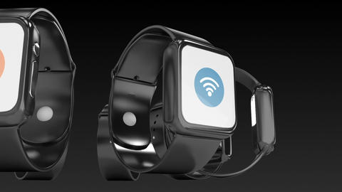 Futuristic smartwatch with different icon Live Action
