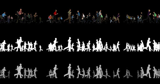 Silhouettes of people with alpha channel and depth channel Live Action