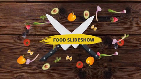 Food Slideshow After Effects Template