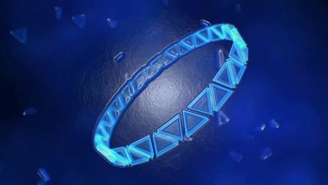 Abstract Rotating Ring of Triangles Animation - Loop Blue Animation