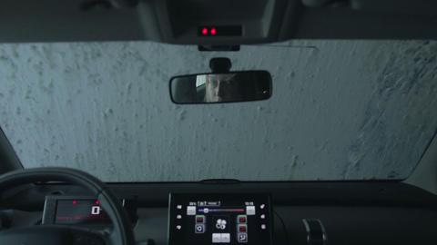 Car running through automatic car wash Footage