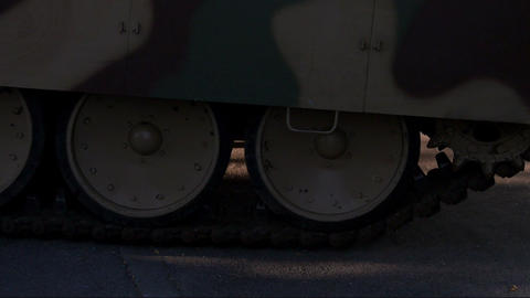 close up of passing tank Footage