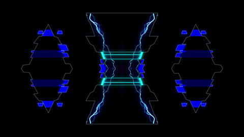 Techno Beat 4K 02 Vj Loop Animation