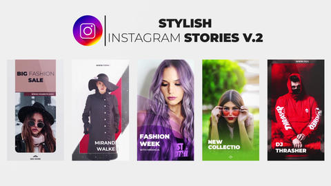 Stylish Instagram Stories v 2 After Effectsテンプレート