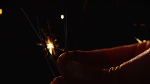 Close-up of sparklers Live Action