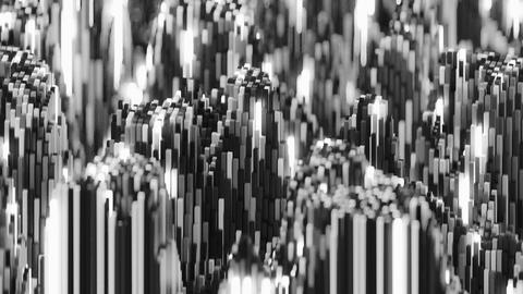 4K Abstract Topographic Noise Patterns Live Action