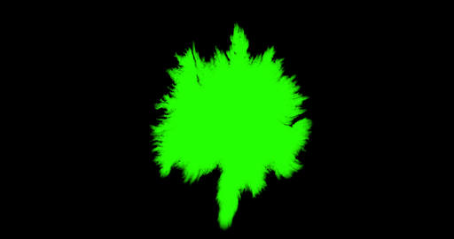abstract paint brush stroke shape white ink splattering flowing and washing on chroma key green Live Action