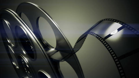 Film rolling out of a film reel Live Action