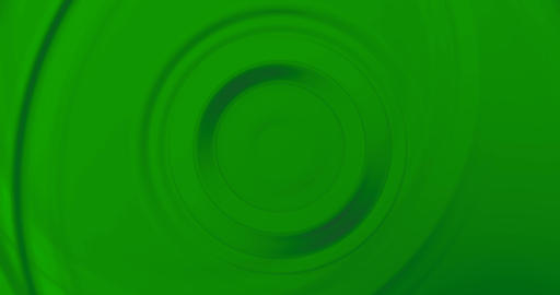 wave circle water effect in movement on surface on chroma key green screen background, real Live Action