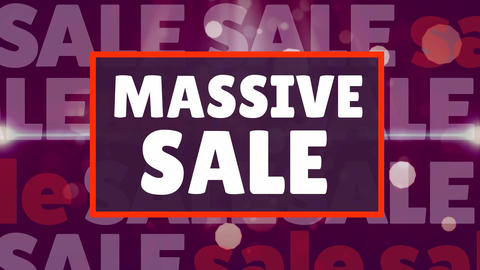 Digital generated video of massive sale 4k Animation